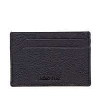 Lanvin Grained Calfskin Card Holder Black