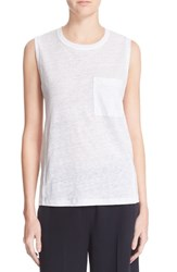 A.L.C. Women's 'Sean' Linen Muscle Tee New White