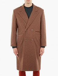 Cmmn Swdn Jacquard Single Breasted Wool Coat Borde
