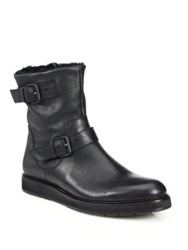 Vince Niles Shearling Lined Leather Boots Black