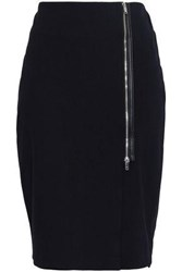 Dkny Zip Detailed Jersey Skirt Black