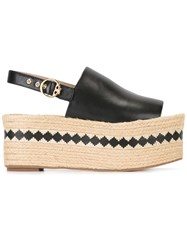 Tory Burch Slingback Platform Sandals Black