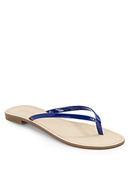 Saks Fifth Avenue Glory Faux Patent Leather Flip Flops