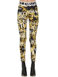 Versace Archive Print Leggings Black