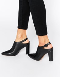 Truffle Collection Mona Sling Point Heeled Shoes Black Pu