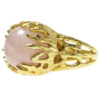 Charlene Court Talon Rose Quartz Ring