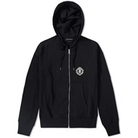 Alexander Mcqueen Military Badge Zip Hoody Black