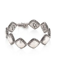 John Hardy Classic Chain Hammered Silver Heritage Quadrangle Bracelet