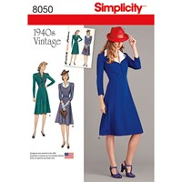 Simplicity Women's Vintage Dress Sewing Pattern 8050
