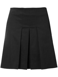A.P.C. Pleated A Line Skirt Women Cotton Elastodiene Lyocell 38 Black