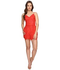 Lovers Friends Songbird Romper Red Women's Jumpsuit And Rompers One Piece