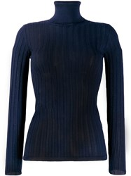 M Missoni Fitted Knitted Top Blue
