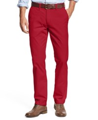 Tommy Hilfiger Men's Custom Fit Chino Pants Mars Red