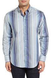 Tommy Bahama Men's Big And Tall Silva Stripe Sport Shirt Download Blue