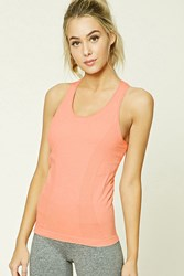 Forever 21 Active Built In Bra Tank Top Coral