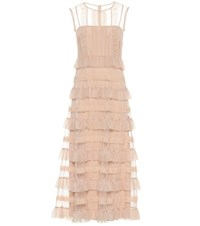 Red Valentino Tulle Maxi Dress Pink