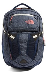 The North Face 'Recon' Backpack Blue Cosmic Blue Heather Coral