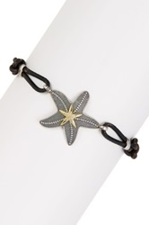 Dani G Jewelry Two Tone Starfish Accented Leather Bracelet