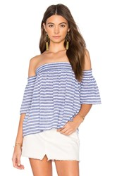 Rails Isabelle Off Shoulder Top Blue