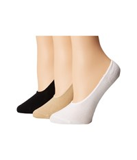 Sperry Canoe Liners 3 Pack Candied Ginger Assorted Women's No Show Socks Shoes Multi
