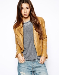 Barney's Originals Barneys Originals Leather Biker Jacket Tan