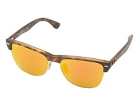 Ray Ban Rb4175 Clubmaster Oversized 57Mm Brown Mirror Pink Fashion Sunglasses Black