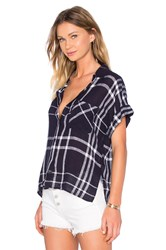 Rails Whitney Linen Blend Button Down Navy