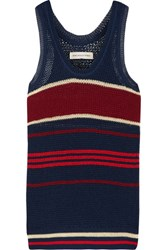 Etoile Isabel Marant Dully Striped Open Knit Tank Storm Blue