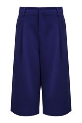 Almost Famous High Waisted Cropped Trousers Blue