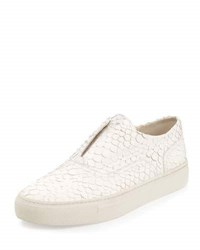 Vince Nelson Python Embossed Leather Skate Shoe Opticwhit
