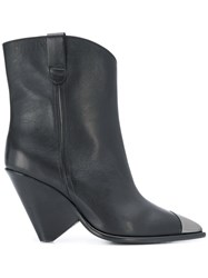 The Seller Leather Ankle Boots Black