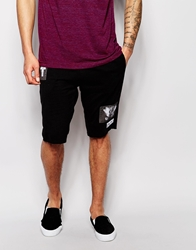 Religion Jersey Shorts With Printed Patches Black