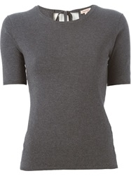 P.A.R.O.S.H. Short Sleeve Sweater Grey