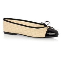 French Sole Simple Quilted Leather Size 39 Sm325