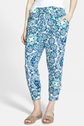 Hinge Print Relaxed Pants Blue
