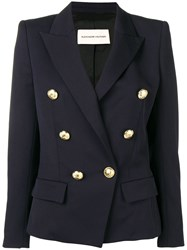 Alexandre Vauthier Double Breasted Jacket Blue