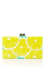 Edie Parker M'o Exclusive Jean Slices Clutch Yellow