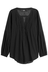 Steffen Schraut Cotton Peasant Top Black