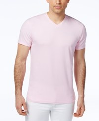 Alfani Red Fitted V Neck T Shirt Classic Pink