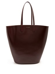 Alexander Mcqueen Basket Large Leather Tote Burgundy