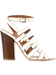 Sergio Rossi Chunky Heel Sandals White