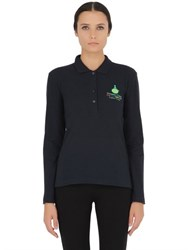 Dynamo Camp Long Sleeved Stretch Cotton Pique Polo