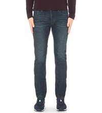 Ted Baker Straight Fit Mid Rise Denim Jeans Rinse Denim