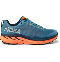 Hoka One One Challenger Atr 4 Rubber Trimmed Mesh Trail Running Sneakers Blue