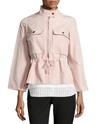 Jil Sander Drawstring Waist Sporty Jacket Rose Pink