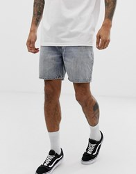 Cheap Monday Slim Fit Denim Shorts In Washed Blue