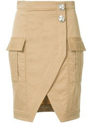 Manning Cartell Wrap Front Pencil Skirt Brown