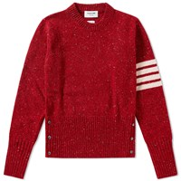 Thom Browne Classic Donegal Short Crew Knit Red