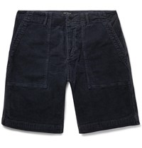 Todd Snyder Stretch Cotton Corduroy Shorts Blue