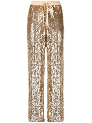 P.A.R.O.S.H. Sequin Joggers Gold